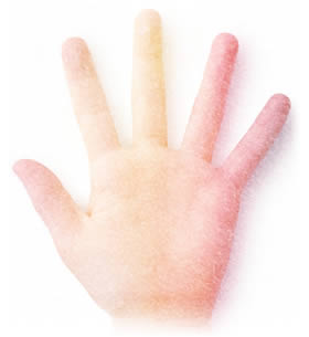 A colorful, glowing hand representing the idea of therapeutic touch or reiki.